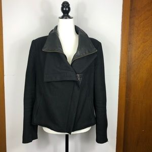 Helmut Lang Wool/Leather Jacket Sz L